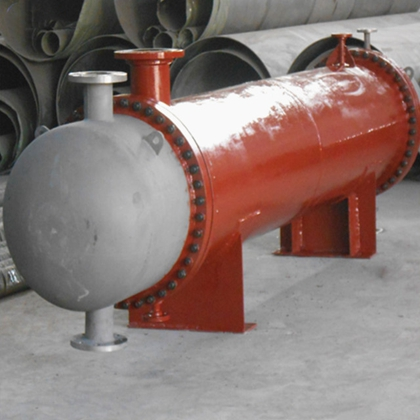 Titanium shell tube heat exchanger for nuclear power plant